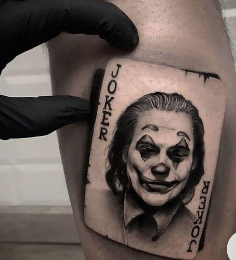 joker card tattoo