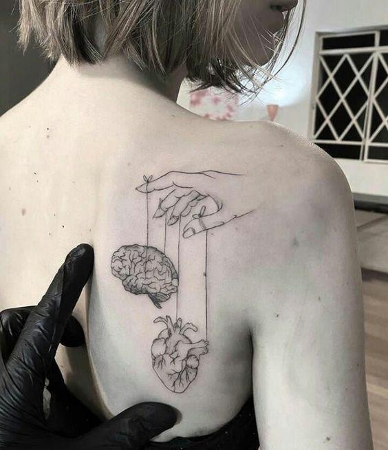 brain tattoo