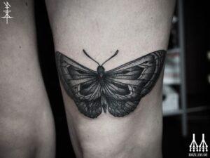 above knee tattoo