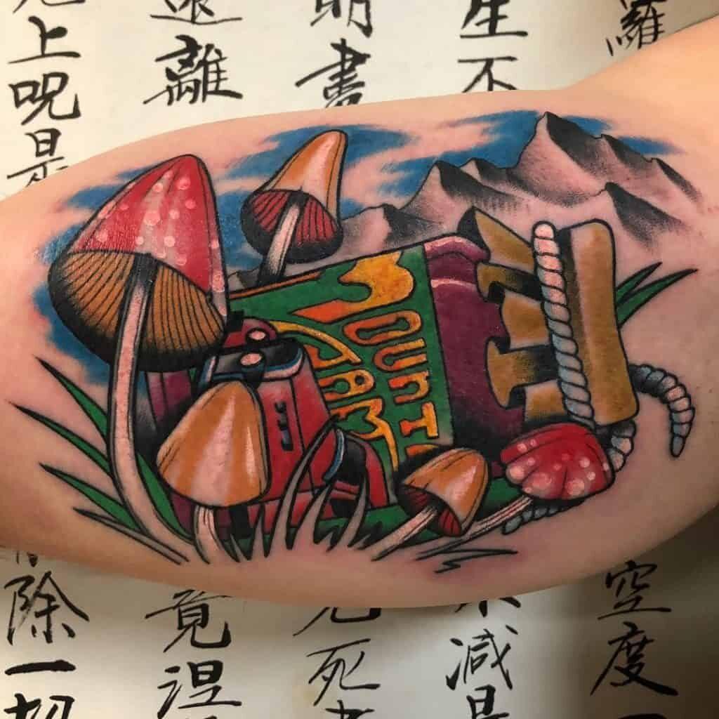 Mushroom tattoo